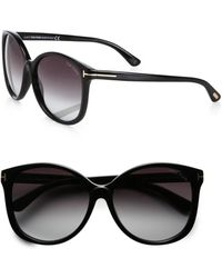 Tom Ford Alicia Oversized Round Acetate Sunglasses - Lyst