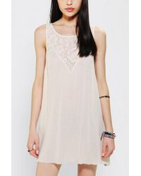 Urban Outfitters Kimchi Blue Lace Open Back Babydoll Dress - Lyst
