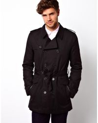 Asos Belted Trench Coat - Lyst