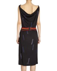 David Szeto - Matte Jersey Draped Column Dress - Lyst