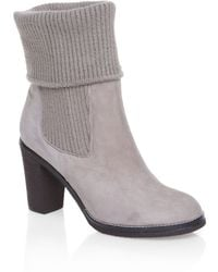 Mascotte - Knitted Cuff Detail Ankle Boots - Lyst