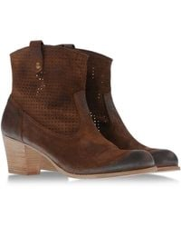 NDC Ankle Boots brown - Lyst