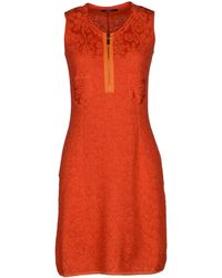 Neera Orange Short Dress - Lyst