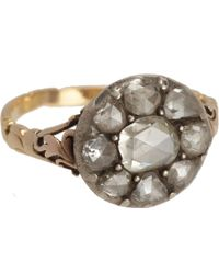 Olivia Collings - Rose Cut Diamond Cluster Ring - Lyst