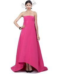 Oscar de la Renta Strapless High Low Gown - Lyst