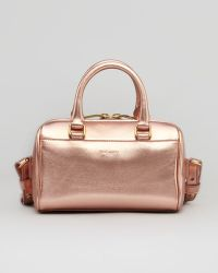 Saint Laurent Metallic Duffel Toy Bag Rose Gold - Lyst