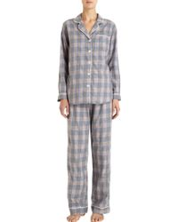 Steven Alan - Large Plaid Pyjama Shirt - Lyst