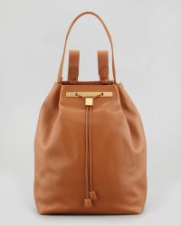 The Row Hobo Leather Hobobackpack Camel - Lyst