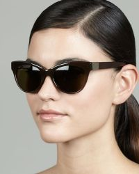 The Row Cateye Leatherarm Sunglasses Walnut brown - Lyst