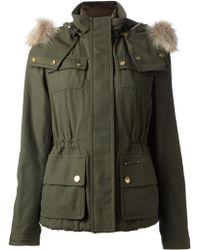 Burberry Brit - Fur Hood Coat - Lyst