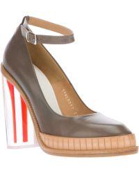 Maison Margiela Block Heel Court Shoes - Lyst