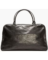 Ann Demeulemeester - Black Buffed Leather Large Duffle Bag - Lyst