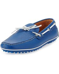 Car Shoe Slipon Driving Shoe Bright Blue - Lyst