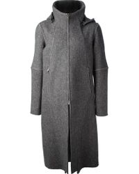 Inaisce - Structured Wool Great Coat - Lyst