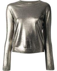 Nude Metallic Sweater - Lyst