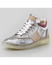 Alexander McQueen x Puma Joust Iii Metallic Lotop Sneaker Silver - Lyst