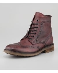 Rogue Wintip Laceup Boot Oxblood - Lyst