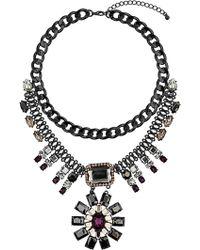 Topshop Flower Drop Necklace - Lyst