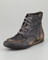 7 For All Mankind - Logan Burnished Camo Boot - Lyst