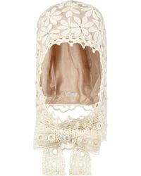 Anna Sui - Embroidered Organza Bonnet - Lyst