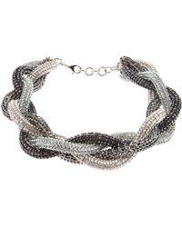 Atelier Swarovski Twist Necklace - Lyst