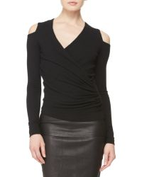 Donna Karan New York Asymmetric Coldshoulder Top - Lyst