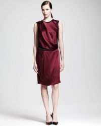 Helmut Lang Quantum Satin Drape Dress - Lyst
