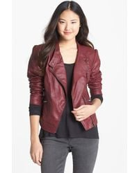 Jessica Simpson | Trey Faux Leather Moto Jacket | Lyst