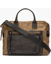 Marc By Marc Jacobs - Khaki Leather-trimmed 2pock and Biggie Briefcase - Lyst