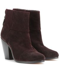Rag & Bone Classic Newbury Suede Ankle Boots - Lyst