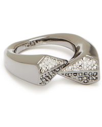 Rebecca Minkoff - Blades Cross Over Ring - Lyst