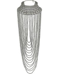 Topshop Mega Beaded Drape Necklace - Lyst