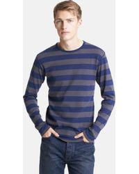 Junya Watanabe Stripe Jersey Cotton Long Sleeve Tshirt - Lyst