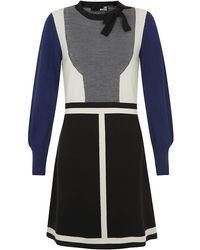 Love Moschino Bow Neck Knitted Dress - Lyst