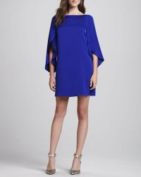 Milly Butterflysleeve Shift Dress Cobalt - Lyst