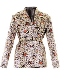 Balenciaga Reversible Swinging Paisley and Leather Jacket - Lyst