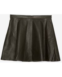 Love Leather | Perforated Aline Leather Skirt | Lyst