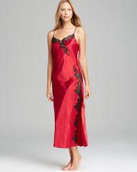 Oscar de la Renta - Lavish Lace Long Nightgown - Lyst