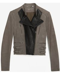 Yigal Azrouël Two Tone Leather Jacket - Lyst