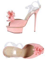 Charlotte Olympia Platform Sandals pink - Lyst