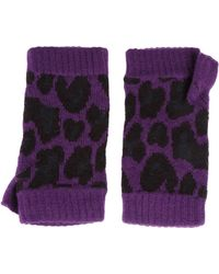 Christopher Kane - Intarsia Cashmere Fingerless Gloves - Lyst