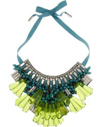 Matthew Williamson - Opulent Beaded Bib Necklace - Lyst