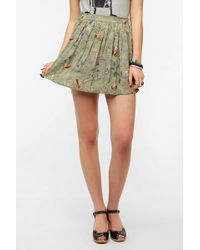 Urban Outfitters Blossom Mini Skirt - Lyst