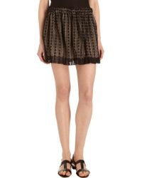 Giada Forte - Lace Overlay Skirt - Lyst