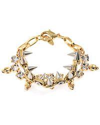 Joomi Lim - Crystal Skull and Spike Bracelet - Lyst
