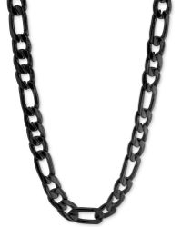 Marc Ecko | Blackplated Link Chain Necklace | Lyst