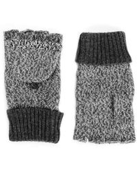Rag & Bone Claire Fingerless Gloves Charcoal - Lyst