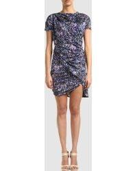 Aminaka Wilmont Short Dress purple - Lyst