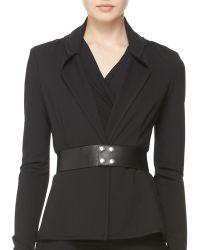 Donna Karan - Wide Leather Snap Belt - Lyst