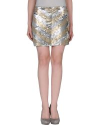 Haute Hippie Mini Skirt - Lyst